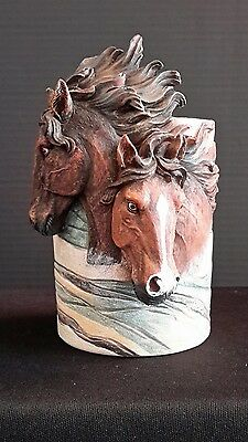 Gorgeous Horse Heads Pen Pencil Cup