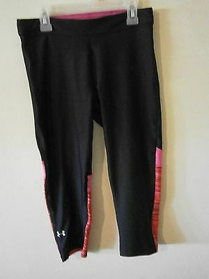 under armour pants, EUC, beautiful black and pink design