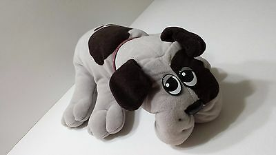 Pound Puppy Vintage 1985 Stuffed Animal Tonka Child Toy Grey with Brown Spots