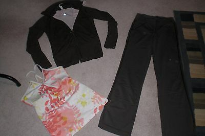 Lot of Rare Lululemon Dance Floss Pants, Reverse Jacket and Tank Top sz 2