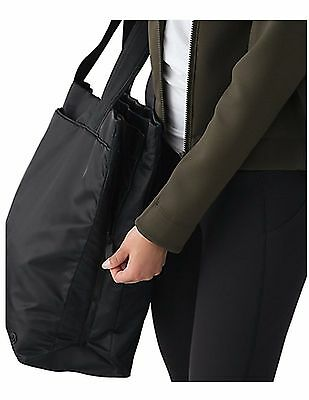 New Women's Lululemon Black Double Up Tote Bag - $118 MSRP
