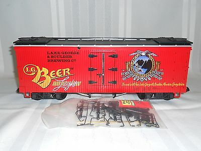 Lgb Trains  #4472  Lake George & Boulder Brewing Co. Reefer   G Scale   Nib