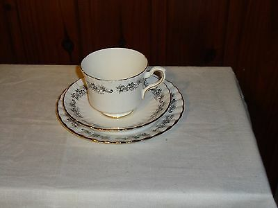 Lovely Vintage C1950's Royal Stafford Othello Bone China Trio - Made In England