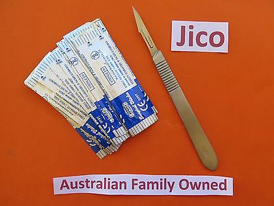 20 × # 11 Surgical Sterile Blades Plus 1 #3 Stainless Scalpel handle Hobby
