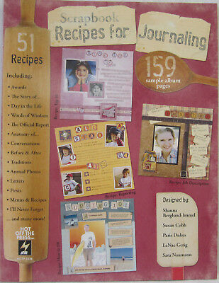 Hot Off The Press Scrapbook Recipes For Journaling Book 159 Sample Scrapbooking