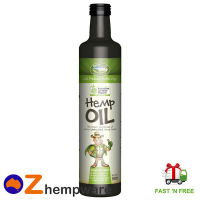 Hemp Seed Oil Australian Certified Organic Cold Pressed Imported Ingredients