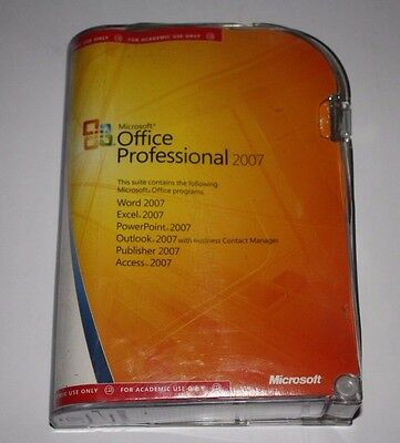 Microsoft Office Professional 2007 - Academic Retail Version - Damaged Box