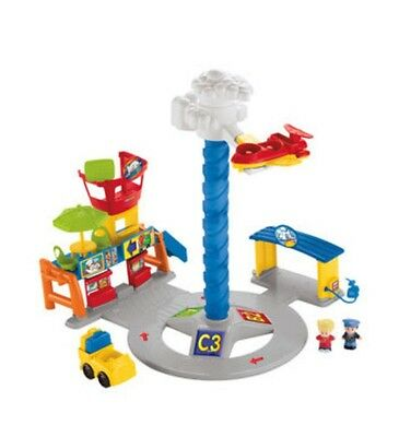 Little People Spinnin' Sounds Airport Plane Fisher Price Toy