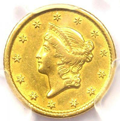 1851-O Liberty Gold Dollar Coin G$1 - Certified PCGS AU Details - Rare Date!