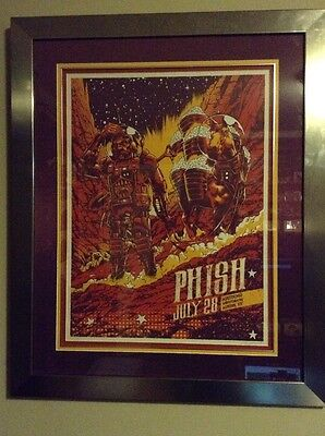 Signed Conor Nolan Framed Phish Poster Limited Ed 178/675 Houston Texas, 7/28/15