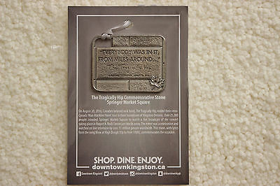 The Tragically Hip Pewter Ornament- Bonus:Photos of Hip at Installation of Stone