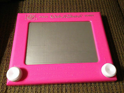 Magic Etch A Sketch By Ohio Art Pink Color