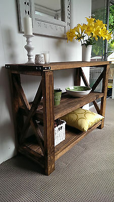 NEW SOLID WOOD 1.2m Rustic French Provincial Hamptons Console Hall Table