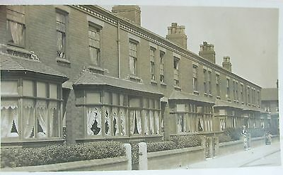 Terrace Of Houses Stretford Manchester Lancashire 1911 Rp Pc