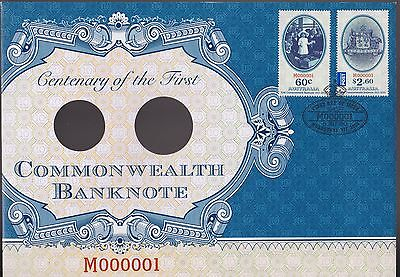 2013 Australian Centenary of the First Commonwealth  Banknote 1st Day cover