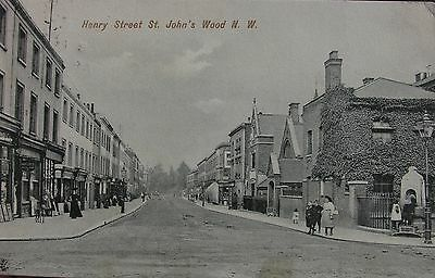 Shop Fronts Henry Street St Johns Wood London 1905 Pc