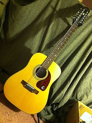 EPIPHONE PR350-12 PR 350-12 acoustic guitar Gibson 1996 great shape 12 string
