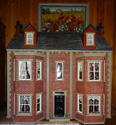 """""""Melsonby Manor"""" A large vintage, fully furnished and lit pretty Dolls House."""