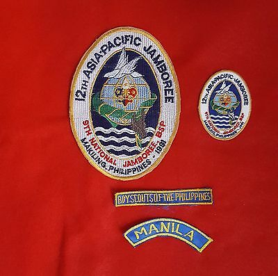12th ASIA-PACIFIC JAMBOREE PATCHES