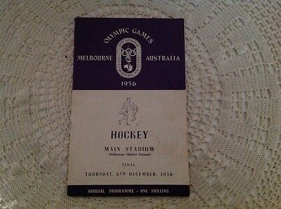 MELBOURNE OLYMPIC GAMES 1956 HOCKEY FINAL PROGRAMME - 6th DEC 1956