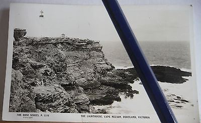 The Lighthouse Cape Nelson Portland Rose Series 1116 postcard Victoria