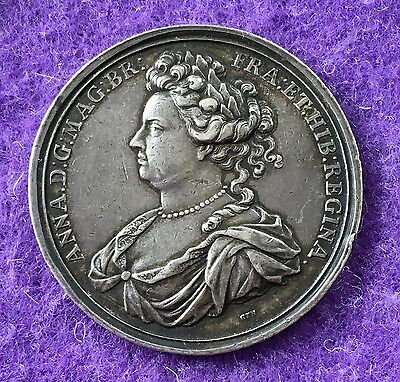 historical medals medallions 1708 Queen Anne Attempted Invasion Of Scotland