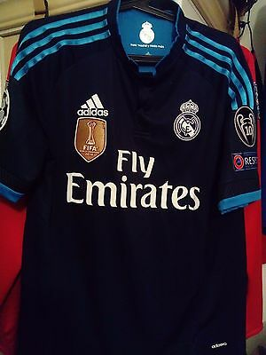"Classic Real Madrid 2015/2016 ""RONALDO"" #7 Adidas third jersey maillot taille M"