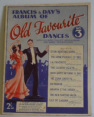 Francis & Days Album of Old Favourite Dances no3 vintage music book Australian