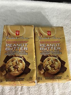 2x Presidents Choice Peanut Butter DECADENT Chocolate Chunk Cookies CANADA