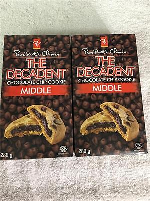 2x Creamy Butter Real Canadian MIDDLE DECADENT Chocolate Chip Cookies CANADA
