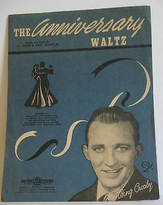 The Anniversary Waltz Bing Crosby old vintage Sheet music Australian