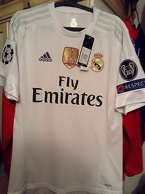 """Classic Real Madrid 2015/2016 """"RONALDO"""" #7 Adidas home jersey maillot taille M"""