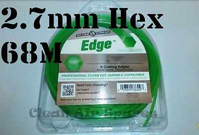 Hex 6 Edge Trimmer Line 2.7mm 68M Whipper Snipper Cord Nylon Wire Brushcutter