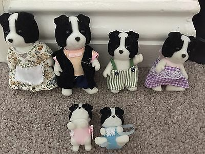 Sylvanian Families Border Collie Dog Family