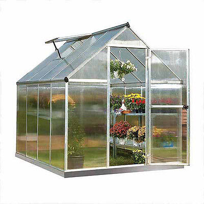Palram Nature Series Mythos 6' x 8' Hobby Greenhouse, Silver