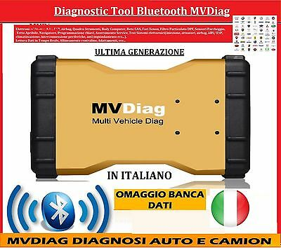 Diagnosi X Auto E Camion V. 2015 Bluetooth Mvdiag + Banca Dati Multimarca