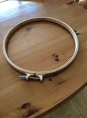 """Wooden 13"""" Embroidery Hoop/Ring Round Cross Stitch Sewing Aid . New"""
