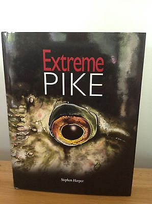 Extreme Pike Stephen Harper signed limited edition pike fishing book no carp