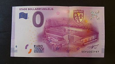 """France, Mint, 0 Euro, Novelty Note. Banknote Quality. """"Stade Bollaert-Delelis""""."""