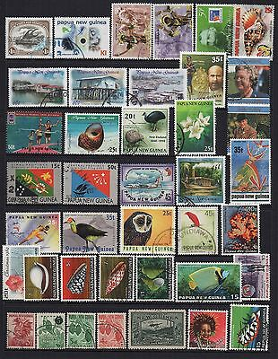 Papua New Guinea ~ Used Stamp Mixture X40