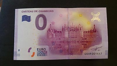 """France, Mint, 0 Euro, Novelty Note. Banknote Quality. """"Chateau de Chambord"""". #1"""