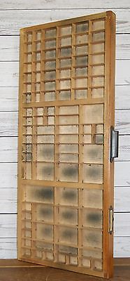 Large Vintage Wooden Letterpress Printers Tray Drawer Collectables Display Case