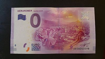 """France, Mint, 0 Euro, Novelty Note. Banknote Quality. """"Gerardmer""""."""