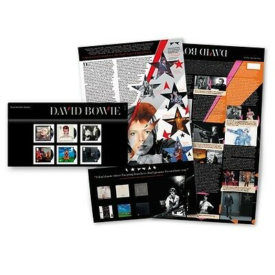 David Bowie Royal Mail Stamps Presentation Pack 2017 Brand New