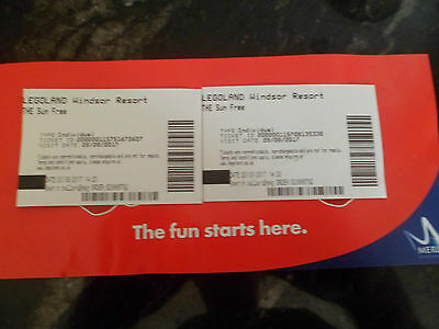 2 Legoland Theme Park Tickets 28 August  28/08/17