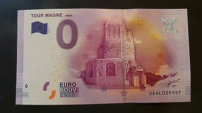 """France, Mint, 0 Euro, Novelty Note. Banknote Quality. """"Tour Magne""""."""