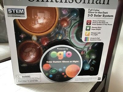 New Smithsonian Educational 3-D Solar System Glow In The Dark