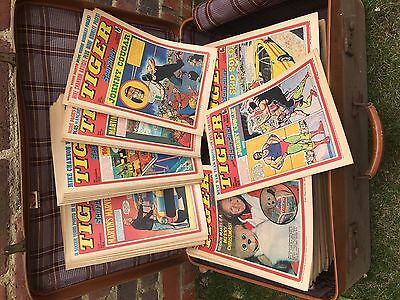 220 Tiger and Scorcher comics dating 1972 to 1977