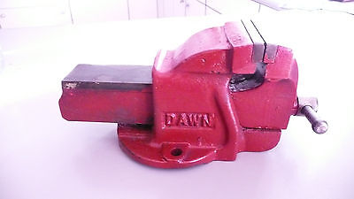 VINTAGE DAWN 3 Bench Vice Australian made Engineers Workshop  resprayed.