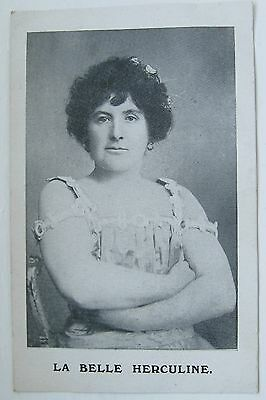La Belle Herculine Postcard C1910 Strong Woman Music Hall S Wilford Leicester